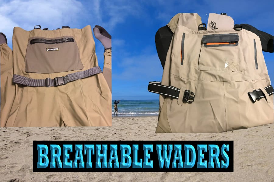BREATHABLE WADERS FOR SURF FISHING